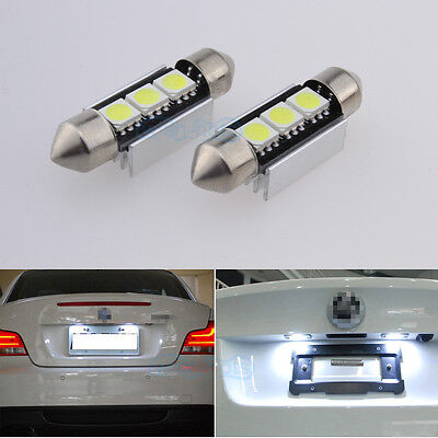 2pc LED Number Plate / License Light Bulbs Upgrade For Audi A2 A3 A4 A6 A8 TT Q7