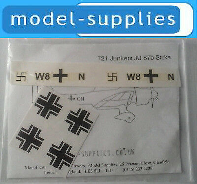 Dinky 721 Dinky Stuka reproduction decal set BN