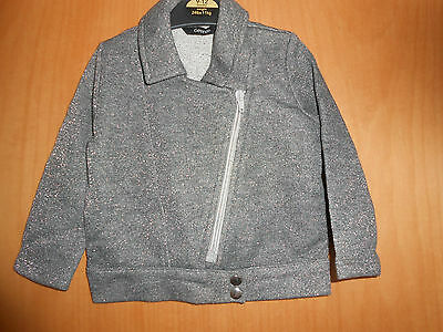 Girls Sparkly Grey Biker Type Jacket, George, BNWT, Perfect Gift!