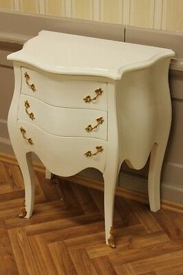 Edle Shabby Chic Kommode Vintage weiß lackiert