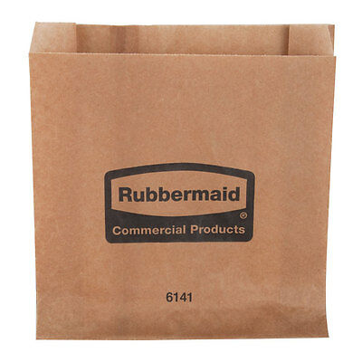 Brand New Rubbermaid 6141 Sanitary Napkin Receptacle Waxed Bags 250/Case RCP6141