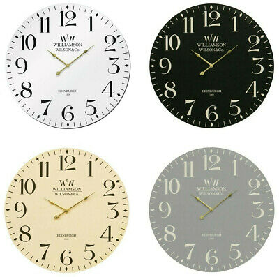 Large 60cm Classical Wall Clock Vintage Style Round Modern Kitchen Bedroom Time