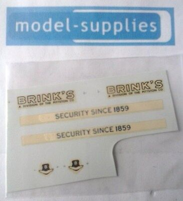 Dinky 275 Brinks armoured car reproduction decal set