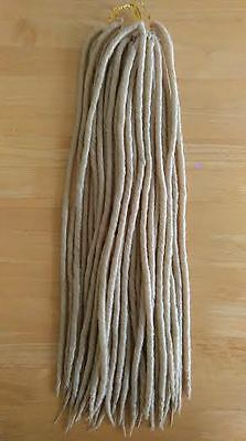 UK: Lovely Blonde Faux Locks Dreadlocks. Crochet. Synthetic Dread Locs braid