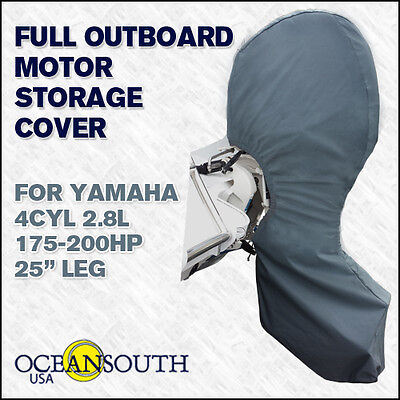 "Yamaha outboard storage full cover 4CYL 2.8L 175-200HP 25"" Leg"