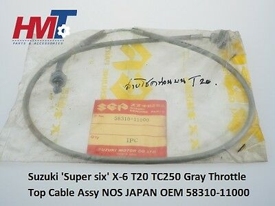 Genuine Suzuki X-6 T20 TC250 Gray Throttle Top Cable Assy 58310-11000 NOS JAPAN