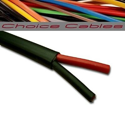 12v/24v AUTOMOTIVE 2 CORE FLAT TWIN THINWALL CABLE 1.0mm, 16.5A AUTO CAR WIRE