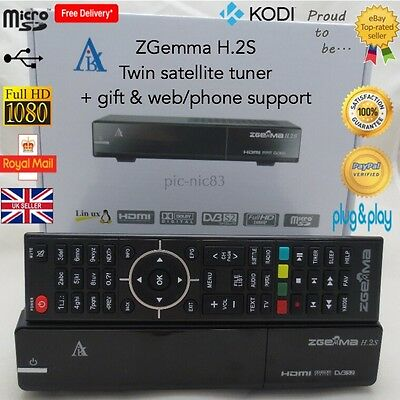 ZGemma H.2S Twin Satellite Receiver**latest Model**24 Month Gift** Free Post**