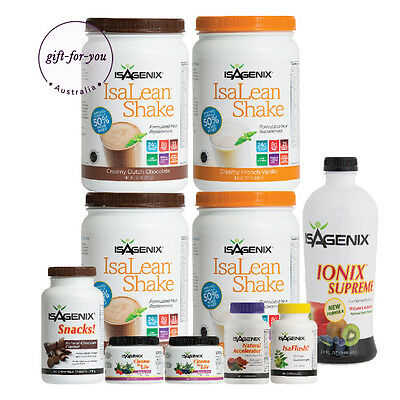 FREE POST Isagenix 30 Day Weight Loss & Nutritional Cleanse Pack +Program Guide