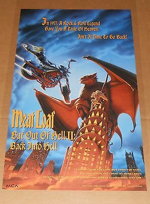 Meatloaf Bat Out of Hell II Poster Original Promo 30x18