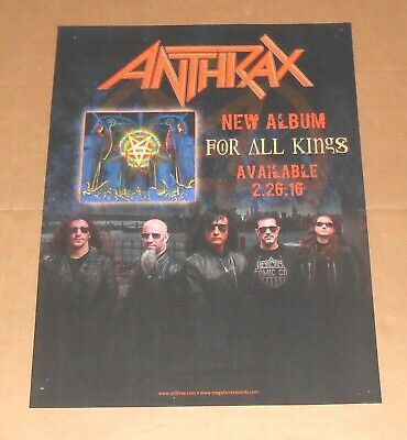 Anthrax For All Kings Poster Original 2016 Promo 24x18