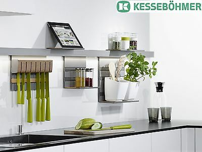 Kesseböhmer MosaiQ Railing bar Kitchen rail Rail system 600 - 1500 mm LINERO