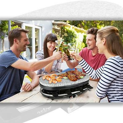 Nutri-Chef PKGRST46 Raclette Grill, Party Cooktop, Stone Plate & Metal Grills