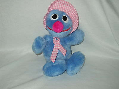 "GROVER Baby vintage Sesame Street HASBRO SOFTIES 14"" character plush toy"