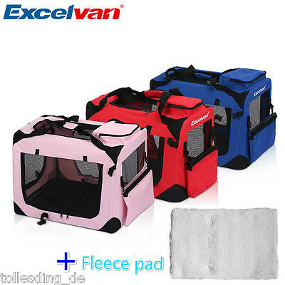 Excelvan Fabric Soft Dog Pet Puppy Portable Carrier Crate Kennel Bag Cage Travel