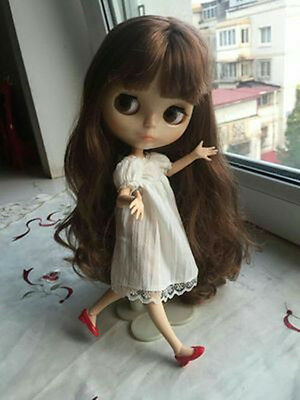 """12"""" Neo Nude Brown hair Joint Body Blythe doll From Factory  JSW10006"""