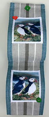 Puffin Seabird Fabric Kitchen Towel Toilet Roll Holder Sandra Coen Print