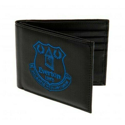 Everton Fc Crest Embroidered Pu Leather Money Wallet Purse New Xmas Gift