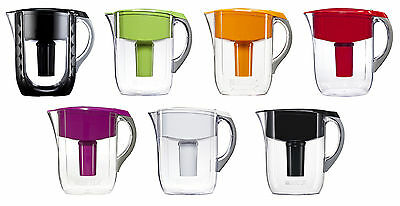 Brita 10 Cup Grand Water Pitchers with 1 Filter, BPA Free, 7 Colors