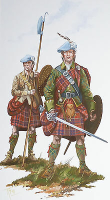Original Military Watercolour Painting #18 - Clan Cameron Of Lochiel - 1746