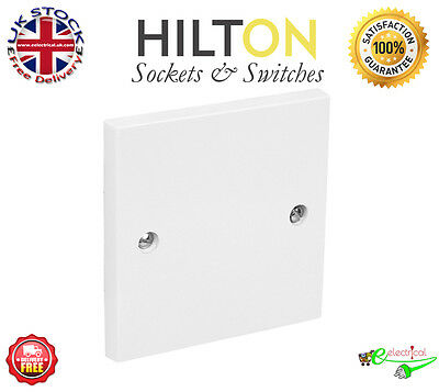 HILTON White Plastic 1Gang or Single Blank Plate  ***Best Quality****