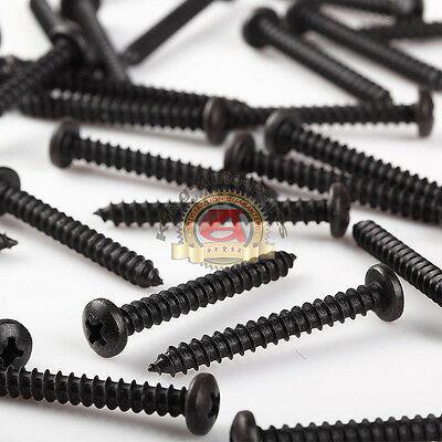 "Phillips Pan Head Black Oxide Sheet Metal Screws Stainless Steel #8 x 1-1/2"" 500"
