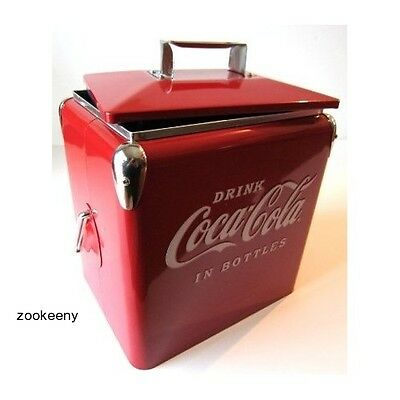 VINTAGE COCA COLA COOLER old fashioned ice box antique picnic drink camping coke