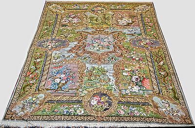 Private Collection One of Kind Persian 7x11 Rug 70 Raj Master Bagher Naghashpour
