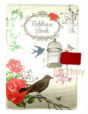 A-Z A5 Telephone Address Book Hardback Designer Fabric Shabby Chic SPECIAL OFFER