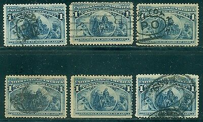 Scott # 230 Used, 6 Stamps, Great Price!