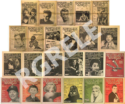 NOSTALGIA WORLD 23 back Issues 1978 -1984 NEW Unread Out of Print For Collectors