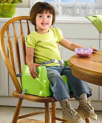 Booster Chair Baby Infant Toddler Green Portable Dining Table Feeding Seat Safe