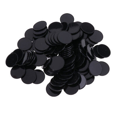 100pcs Casino Poker Chips Bingo Markers Kids Party Game Toy 25MM Black
