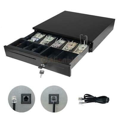 New Cash Drawer Works Compatible Epson/Star w/5Bill &5Coin POS Printers Tray Box