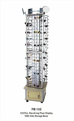 HOLES 132 PAIRS  SUNGLASSES RACK  Floor Display w/ Storage  *****