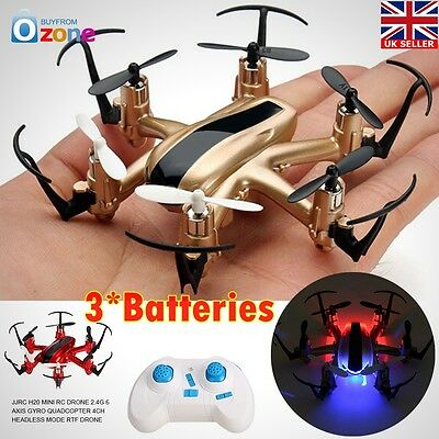 Mini 6 Axis Rc Helicopter  H20  Professional Drones  Remote Control 3 Batteries