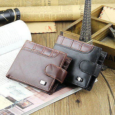 Men Bifold Faux Leather Id Card Holder Money Clutch Coin Wallet Purse Useful