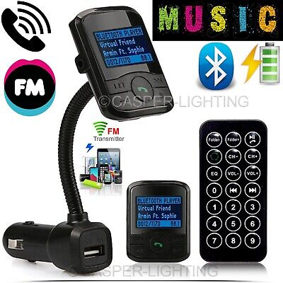 Wireless Bluetooth Car FM Radio Transmitter MP3 Player LCD SD Remote Charger Kit
