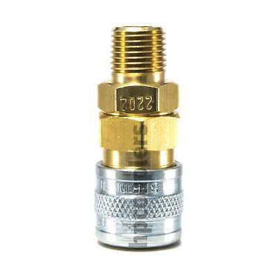 """1/8"""" Quick Disconnect Socket MPT Brass Coupler One-Way Shutoff 2202 NEW Air Hose"""