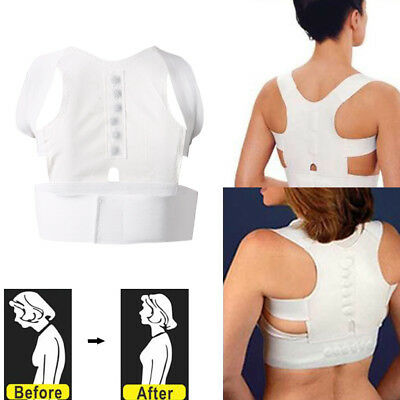 Hot Magnet Posture Back Shoulder Corrector Support Brace Belt Therapy Adjustable