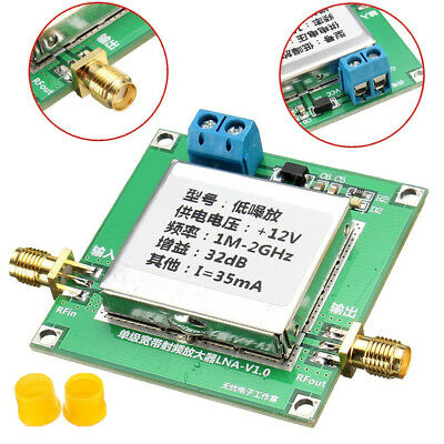 0.01-2000MHz 2Ghz 32dB DC LNA Broadband RF Low Noise Amplifier Module HF UHF VHF