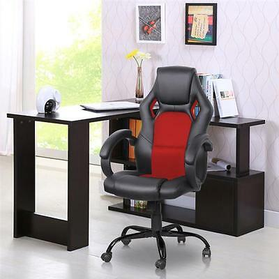 Red Executive Racing Office Chair PU Leather Swivel Computer Desk Seat High-Back