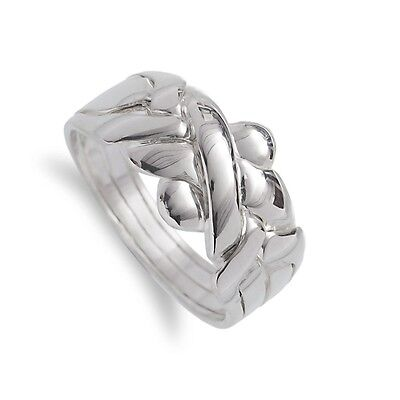"""Sterling Silver 925  """"PUZZLE RING""""  UNISEX"""