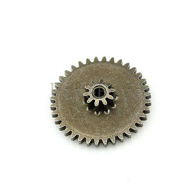 10T-0.5M 36T-0.5 2mm Bore Hole Module Metal Double Gear Wheel Reduction Gear New