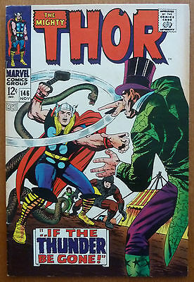 Thor #146..stan Lee..jack Kirby..marvel Silver Age 1967..vg/vg+