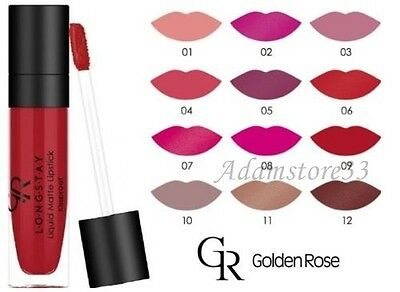 NEW Golden Rose Longstay Liquid Lipstick RICH Matte Pigment with 17 Colours
