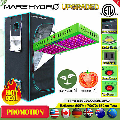 480W LED Grow Light Veg Flower+27''×27''×63'' Indoor Grow Tent Room Box