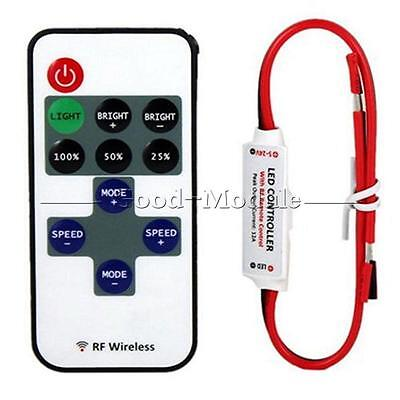 12V RF Wireless Remote Switch Controller Dimmer for Mini LED Strip Light GM