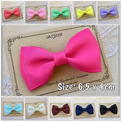 Non Slip Hair Clips for Baby Toddlers Kids Girls School Ribbon Bow Clip Gift