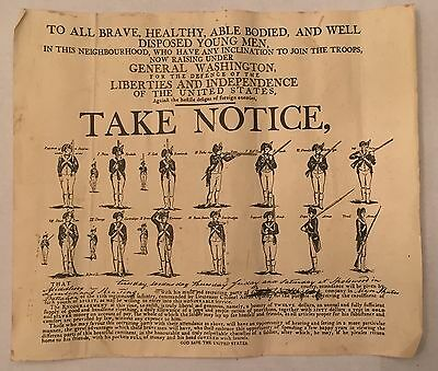 Vintage American Revolutionary War Campaign Poster George Washington Soldiers